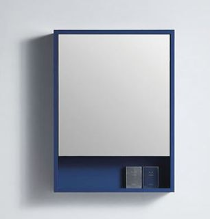Rimini Navy Blue 550w x 150d x 750h Mirror Cabinet