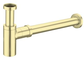 Nero 40mm Round Brushed Gold Bottle Trap