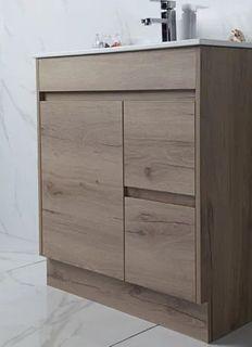 York Slimline 900 Timber Look Floor Mount Vanity Cabinet