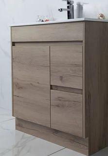 York Slimline 750 Timber Look Floor Mount Vanity Cabinet