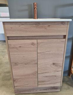 York Slimline 600 Timber Look Floor Mount Vanity Cabinet