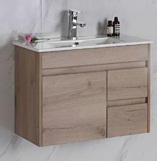 York Slimline 900 Timber  Look Wall Hung Vanity Cabinet