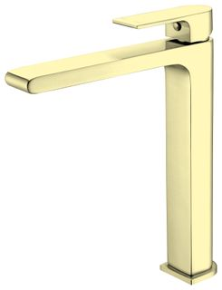 Bianca Brushed Gold Tall Basin Mixer