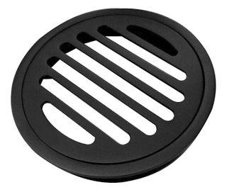 Black Round Floor Grate 100mm
