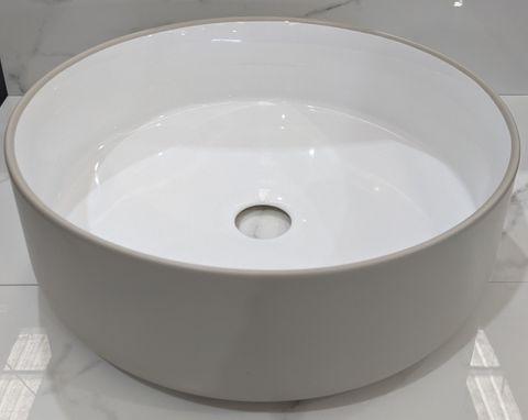 Mersey Matt Mushroom/(Gloss)White A/C B