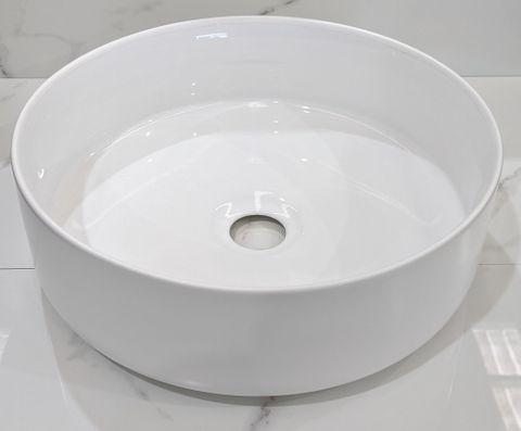 Mersey Matt White/(Gloss)White A/C Basin