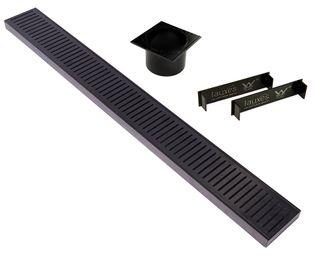 Aluminium Midnight Floor Grate 100mm =<1200mm (length) x 100mm x 26mm
