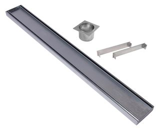 Aluminium Slimline Tile Insert Grate =<800mm (length) x 100mm x 26mm