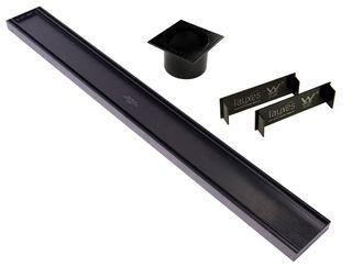 Aluminium Midnight Slimline Tile Insert Grate =<800mm (length) x 100mm x 26mm