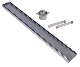 Aluminium Tile Insert Plus Grate =<800mm (length) x 100mm x 35mm