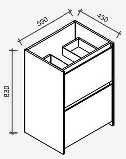 Amelia Australian Blackbutt Floor Mount Vanity 600 Cabinet Only