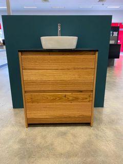 Amelia Australian Blackbutt Floor Mount Vanity 750 Cabinet Only