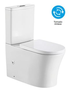 Tornado Rimless Back To Wall Toilet Suit