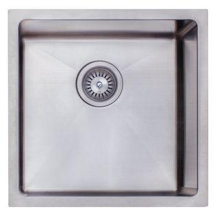 Undermount Sink Single Sq 450x450 Chrome