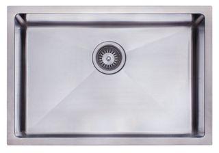 Undermount Sink Single Sq 650x450 Chrome