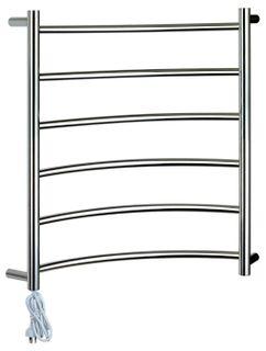 Heated Towel Rail Corner 6 Bar LHP