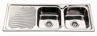 Sink Sq Cnr 1180 Double Right Hand Bowl