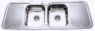 Sink Rnd Cnr 1380 Double Bowl/Double Dr