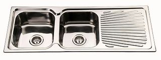 Sink Sq Cnr 1180 Double Left Hand Bowl