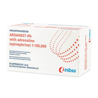 ARDANEST ANAESTHETIC 4% 1:100,000 (50 per box)