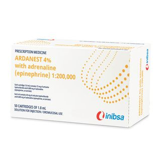 ARDANEST ANAESTHETIC 4% 1:200,000 (50 per box)