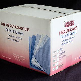 HEALTHCARE WELTEX BIBS BLUE 48x33 (500)