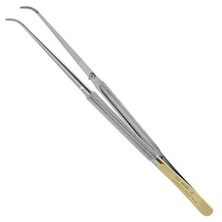 COTTON AND DRESSING TWEEZER DIAMOND COATED 18CM