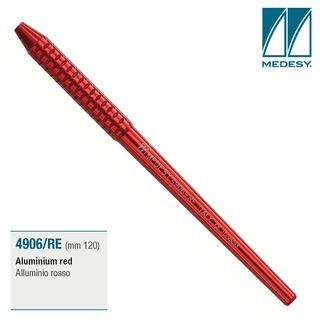 MIRROR HANDLE ALUMINIUM RED 120mm