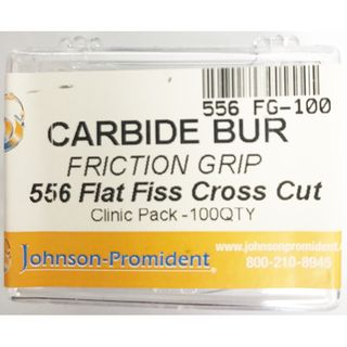 CARBIDE BUR FG 556 FLAT FISSURE CROSS CUT SHAPE 100 PK BULK
