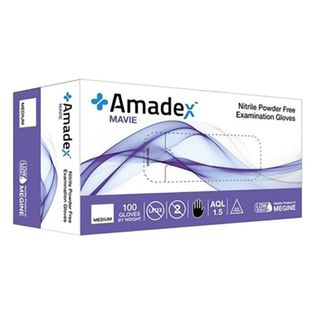 AMADEX SKY BLUE NITRILE GLOVES SMALL