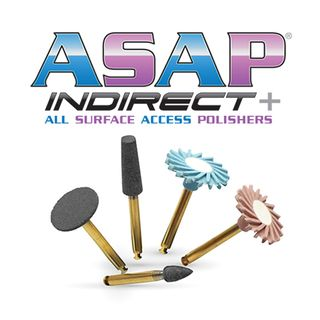 ASAP INDIRECT+ FINAL POLISHER (PEACH) INTRA-ORAL RA REFILL 3PK