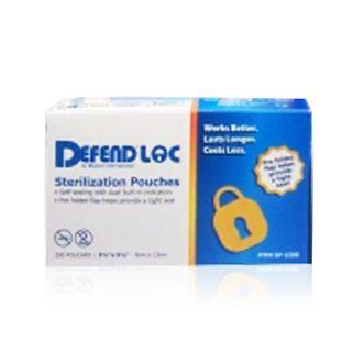 "STERI-POUCHES DEFENDLOC 3 1/2"" X 10"" (9 x 25.4cm) 200/BOX"