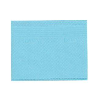 PATIENT BIBS BLUE 2/TISSUE + 1/POLY 500/CS 33x 46cm