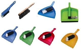 DUST PANS AND BRUSHES