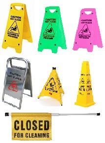 SAFETY SIGNS AND BARRIERS