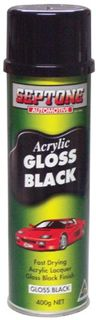 ACRYLIC GLOSS BLACK 400GM (AAGB400)