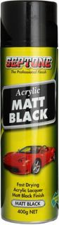 ACRYLIC MATT BLACK 400GM (AAMB400)