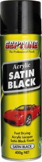ACRYLIC SATIN BLACK 400GM