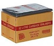 GARBAGE BAGS EXTRA H DUTY CTN200 82LTR