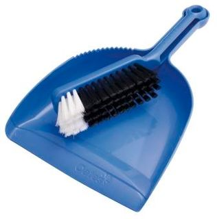 PLASTIC DUSTPAN SET BLUE B10207
