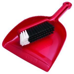 PLASTIC DUSTPAN SET RED B10207R