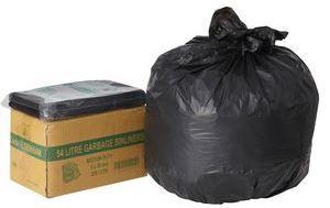 GARBAGE BAGS 54L BLACK CTN 250 LDBIN54M