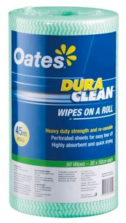 DURAWIPES ROLL 45M/90 GREEN HW030G