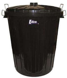EDCO 73 LITRE PLASTIC GARBAGE BIN BLA