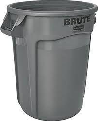 BRUTE ROUND 75.7 LTR BIN NO LID R/MAID