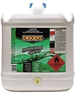 DIGGERS METHYLATED SPIRITS 20L PLASTIC