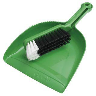 PLASTIC DUSTPAN SET GREEN B10207G