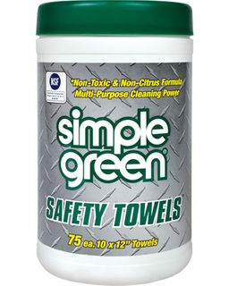 SIMPLE GREEN SAFETY TOWELS PK 75 TOWELS