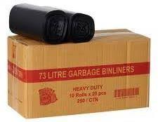 GARBAGE BAGS H.DUTY 73L CTN 250 (ROLLS)