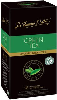 LIPTON GREEN TEA BAGS CTN 6X25PKT